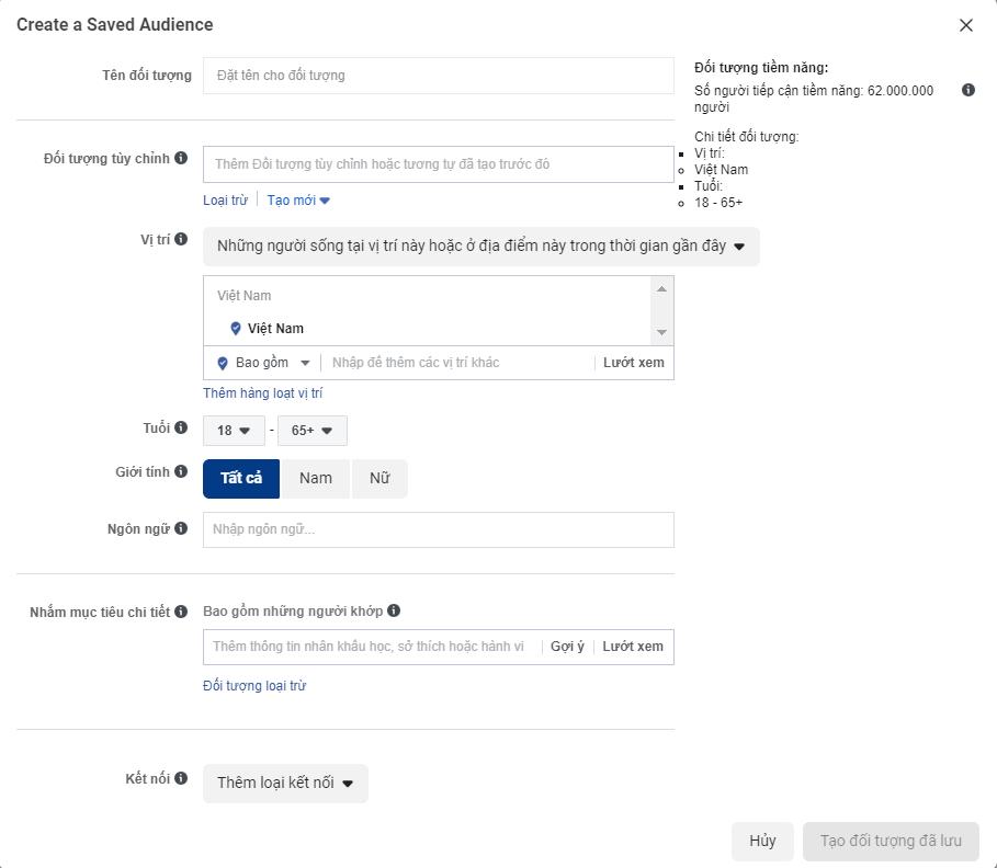 Kinh nghiệm target đối tượng trong quảng cáo Facebook Ads